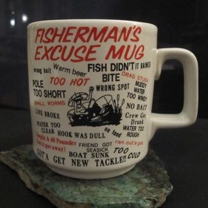 Fisherman's Excuse humour mug